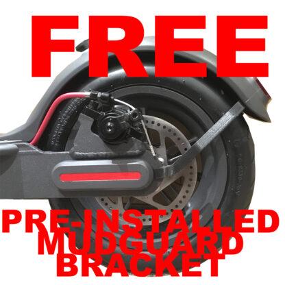 FREE pre-installed mudguard bracket